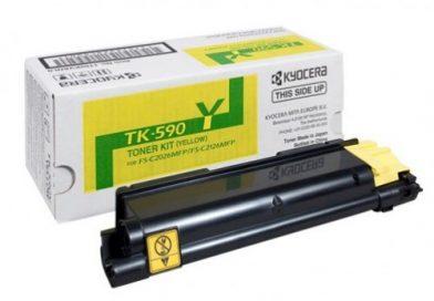 KYOCERA TK-590Y Sarı/Yellow Renkli Lazer Muadil Toner